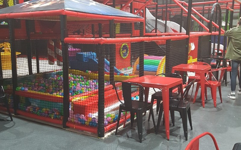 The Entire Contents of a Soft Play and Trampoline Park