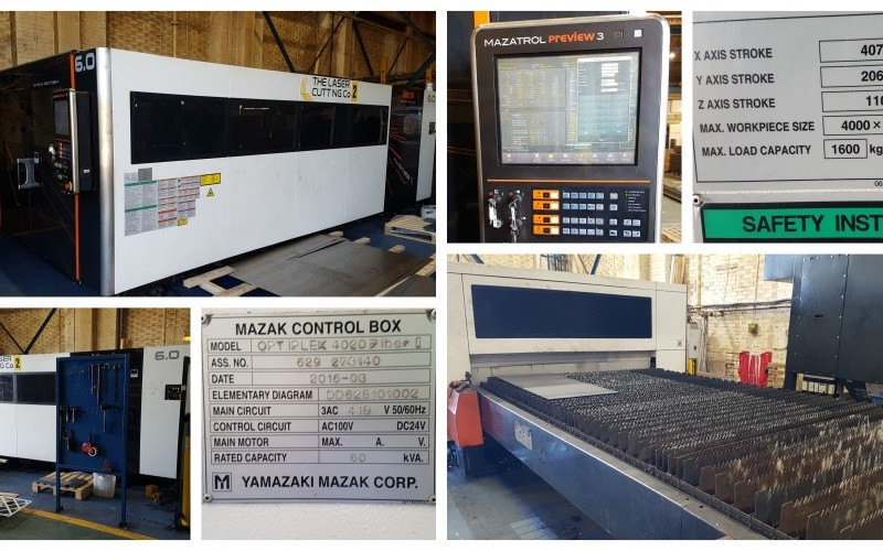 Mazak Optiplex 4020 Fiber II 6kW Laser Flatbed Cutting Machine