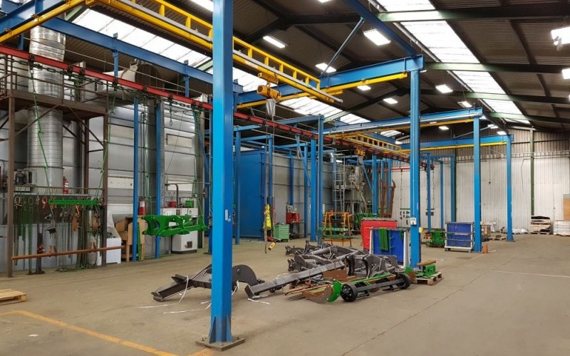Modern Heavy Duty Shot Blasting & Painting Line - For Large/Small Component Parts