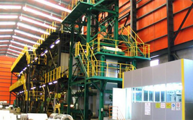 continuous colour coating line with state of the art nir ovens
