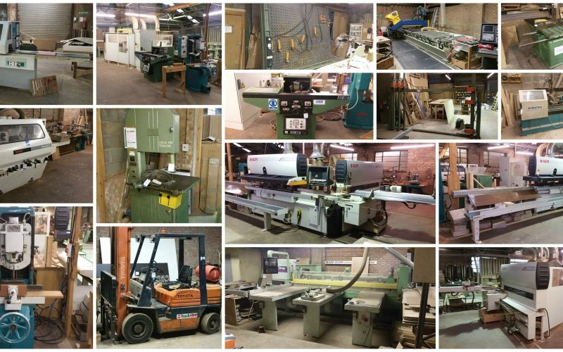 ... woodworking machinery and equipment following closure of the business
