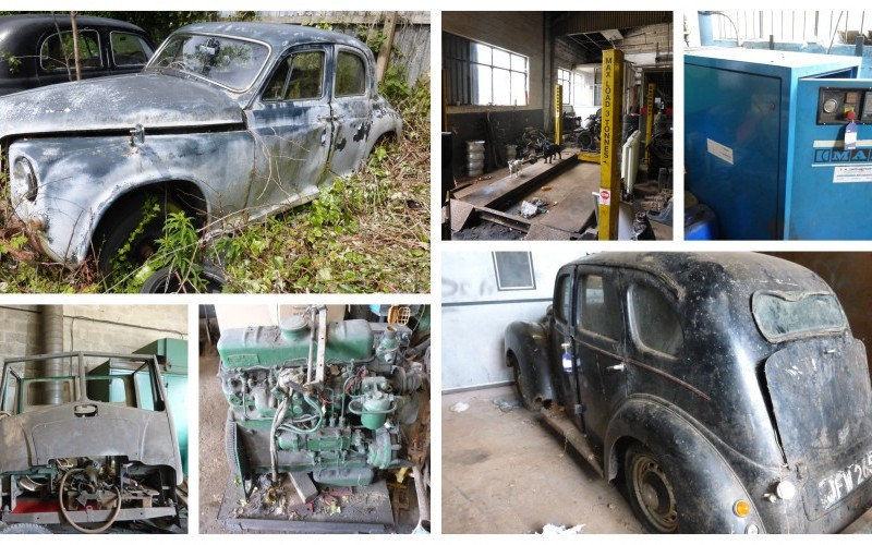 The Contents of a Classic Car Restoration Garage