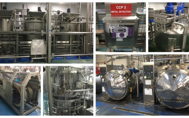 Modern Terlet Sauce Cooking Process and Jar Filling line & 3 x Panini Retorts