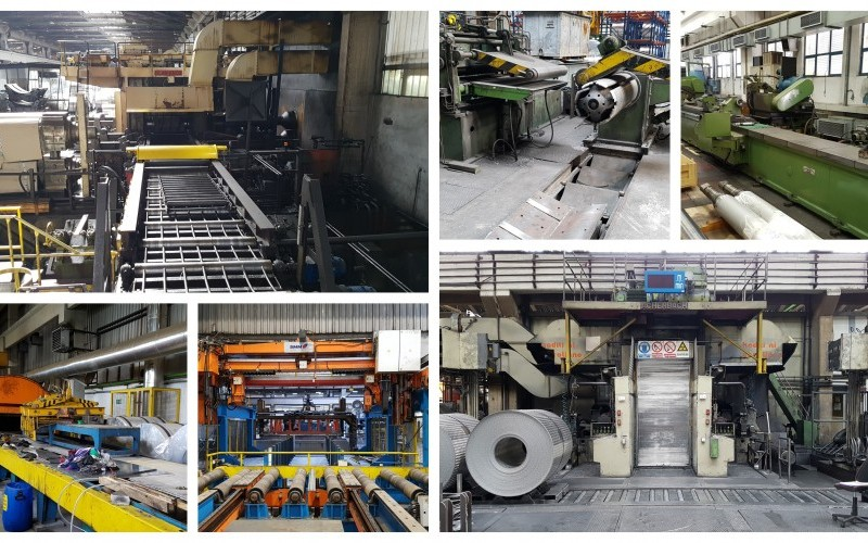 Blaw Knox 2Hi Hot Mill, Achenbach 4Hi Cold Breakdown Mill, Waldrich Slab Scalper and other Slab Manipulation Equipment