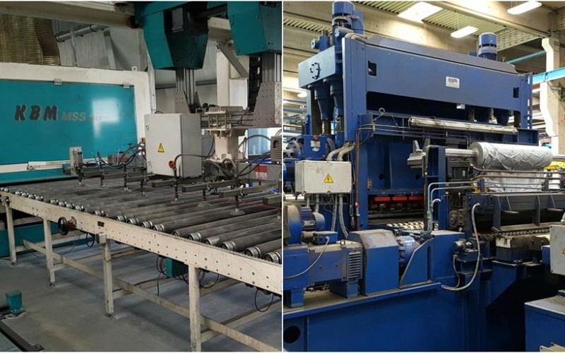 2009 KBM MSS90 Grinding & Polishing Line & 1998/99 Ocemi 2 Metre wide Cut to Length Line