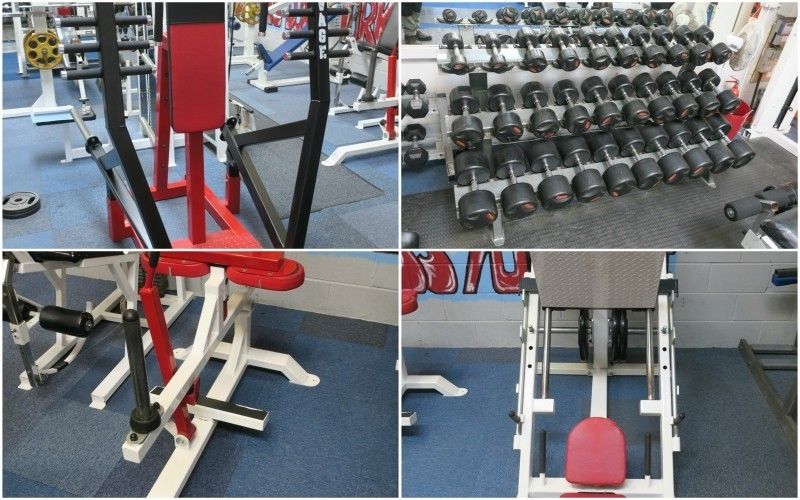 The Entire Contents of a Body Building Gym, including Plate Loaded Equipment by Power Fabs and others