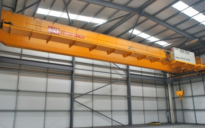 Konecranes 30 Tonne Capacity Twin Beam Overslung Twin Speed Electric Overhead Travelling Crane