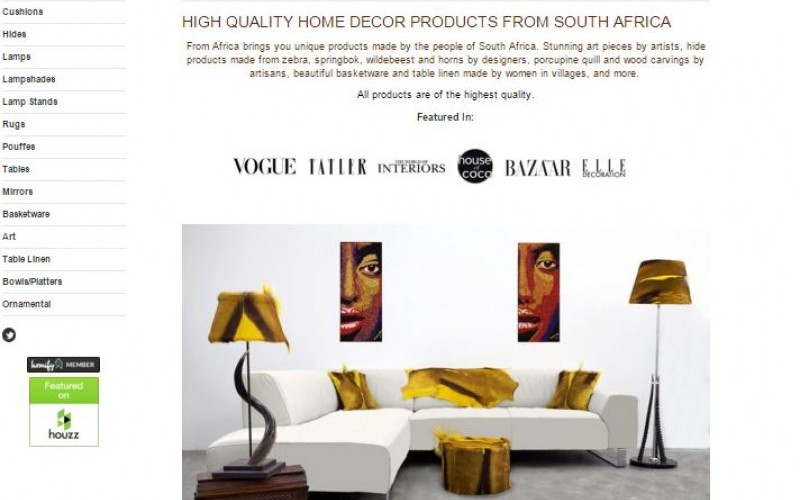 High Quality Home Decor Products from South Africa CJM