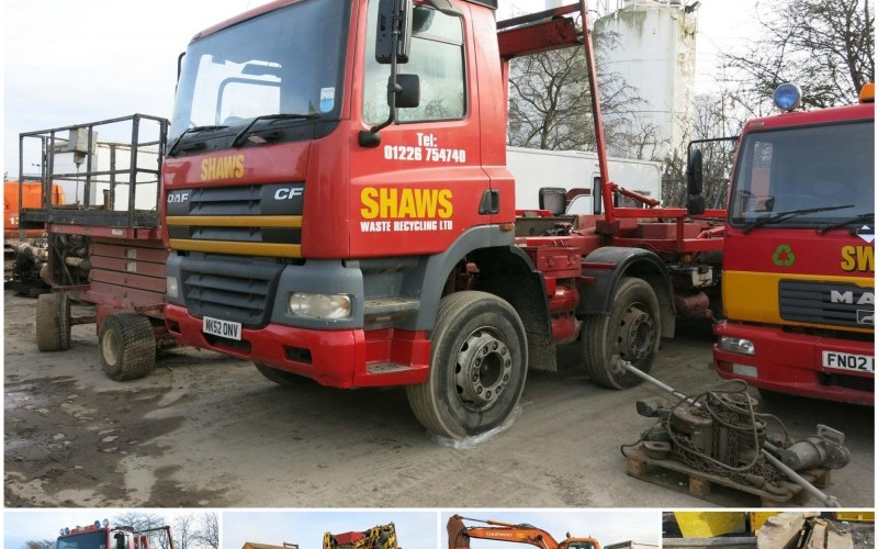 Online Auction of Skip Lorries, Excavators and Recycling Equipment
