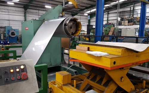 Sherwood Stainless appoint Eddisons CJM to market surplus Stainless/Aluminium Cut to Length Line